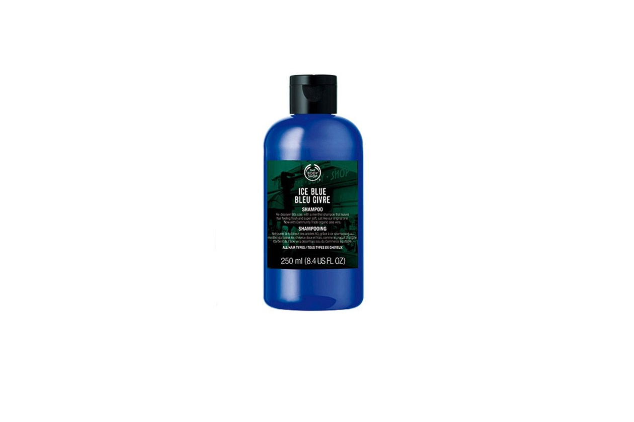 The Body Shop ice blue shampoo