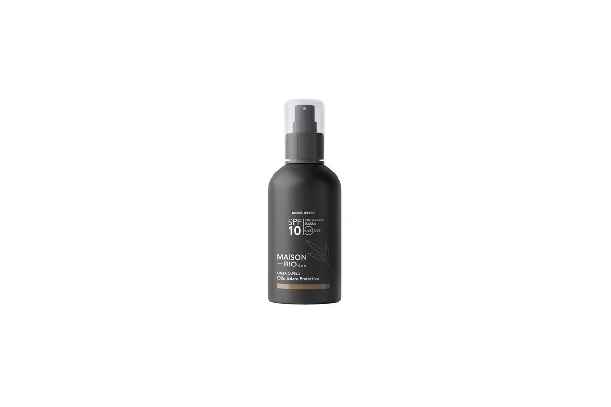 flacone spf10 olio solare capelli