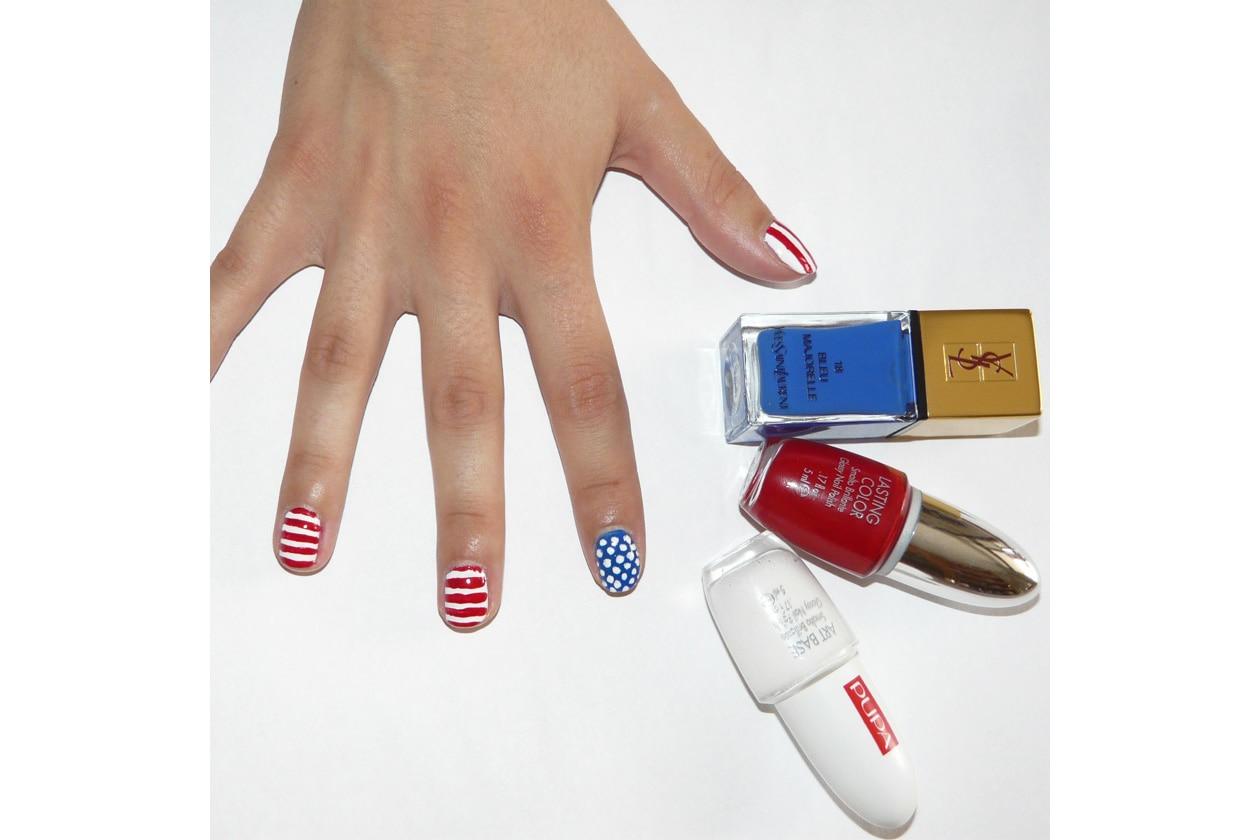 manicure usa flag