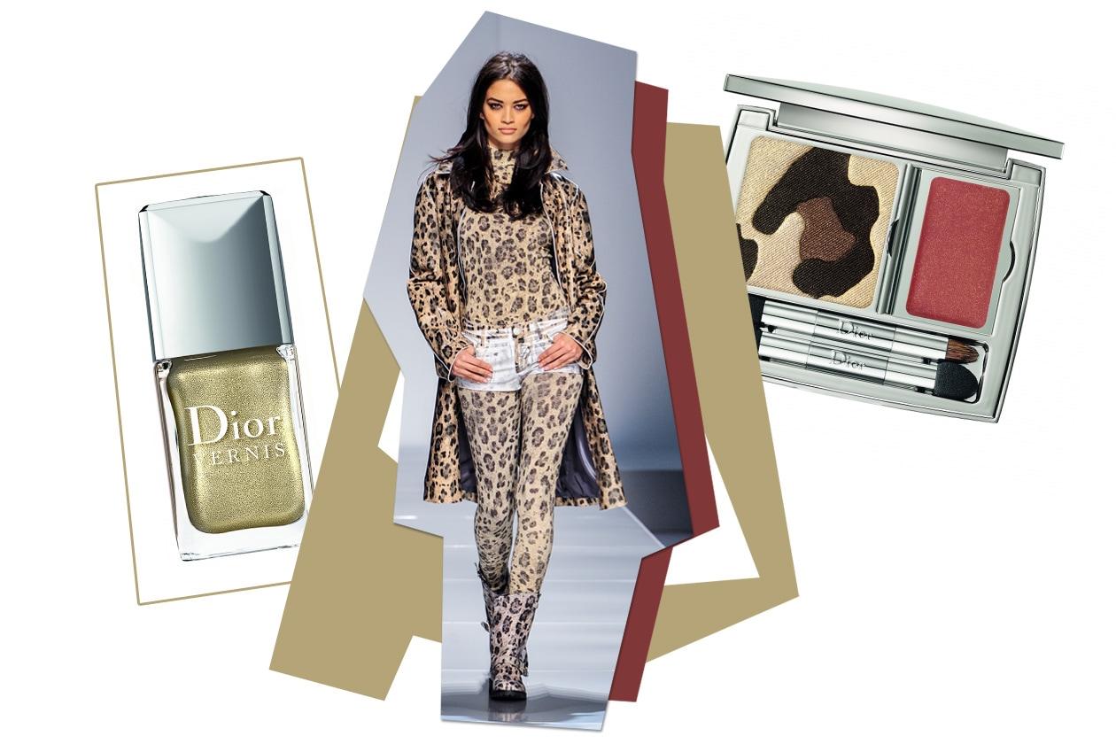 Animalier all over (Dior) per la modella di Blumarine