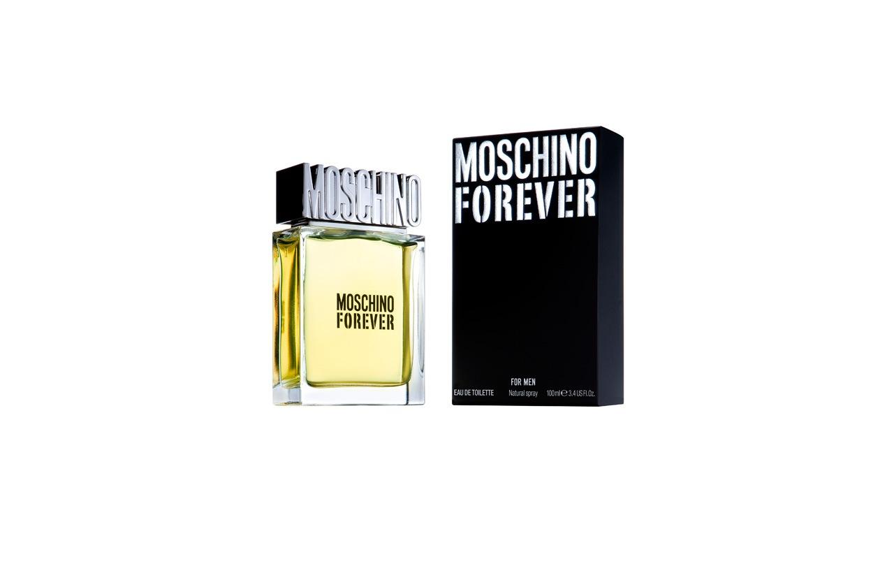 Con Moschino Forever la celebre maison ripropone una fragranza dal carattere virile e intenso