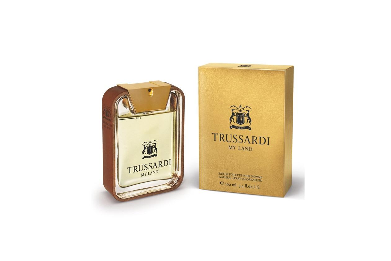 Estrema eleganza anche per il nuovo profumo Trussardi My Land