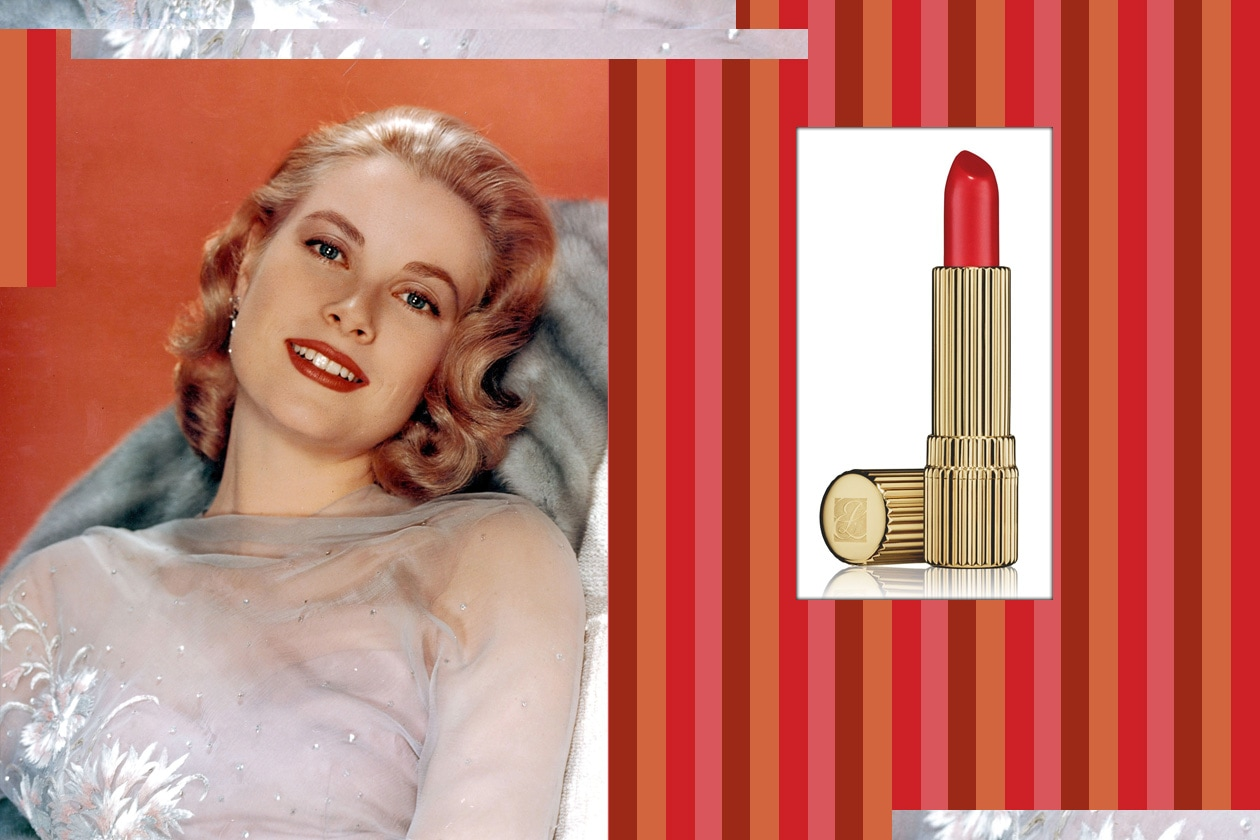Grace Kelly portofino coral estee lauder signture lipstick