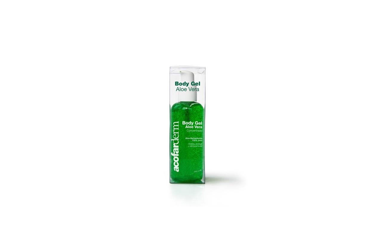 Il gel corpo di Acofarderm stimola la sintesi delle fibre di collagene ed elastina e agisce come anti-aging