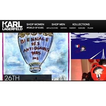 Karl Lagerfeld rinnova il sito