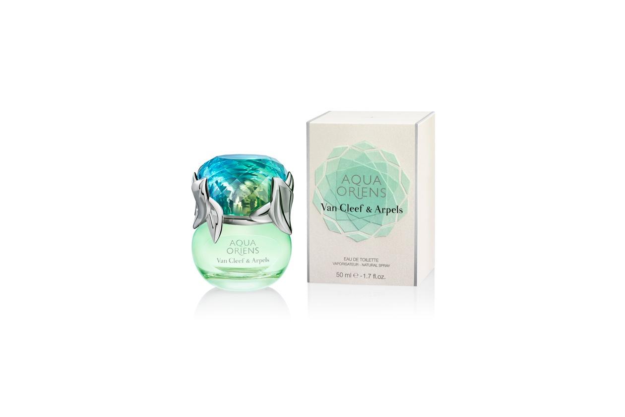 La versione estiva in limited edition di Aqua Oriens di Van Cleef & Arpels: un richiamo alle paradisiache acque turchesi delle lagune e ai vivaci colori dei mari del Sud
