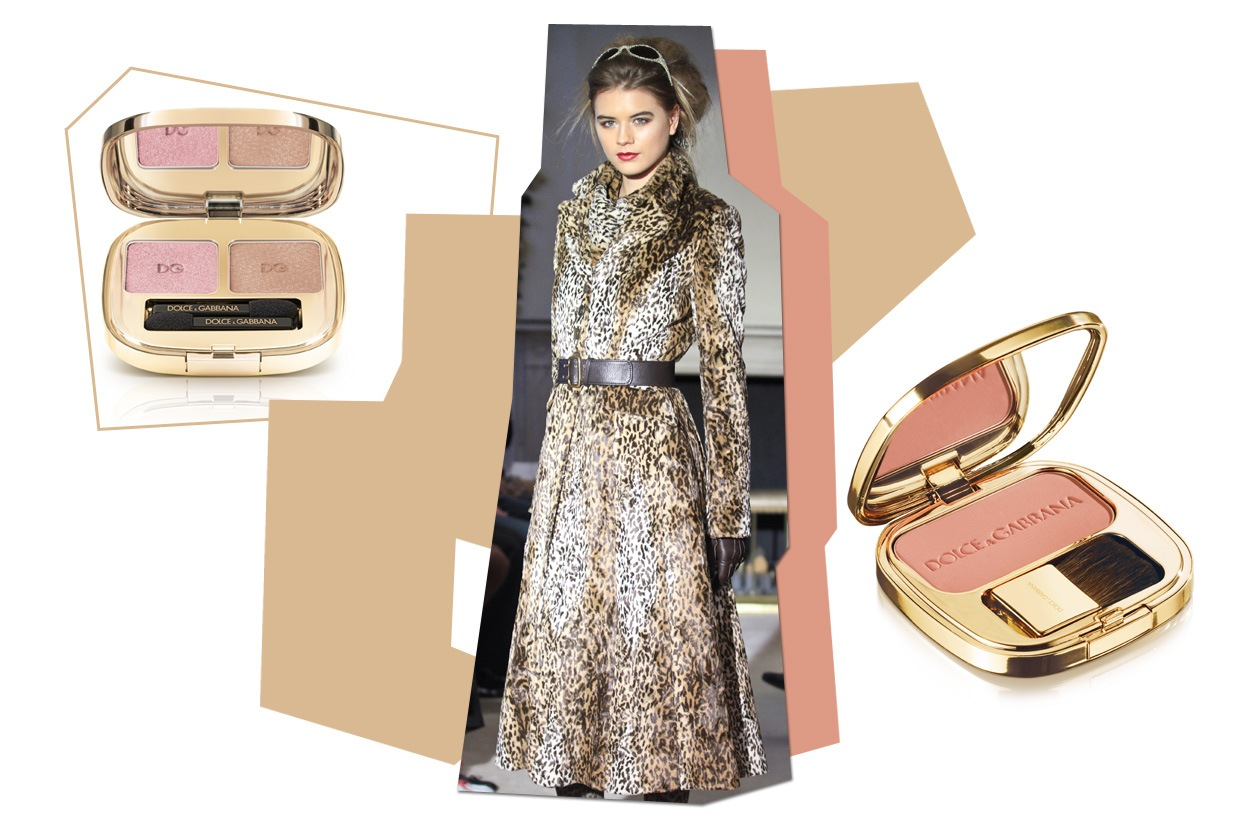 Stampe animalier da abbinare a un make up dai toni chiari (Caroline Charles, Dolce&Gabbana)