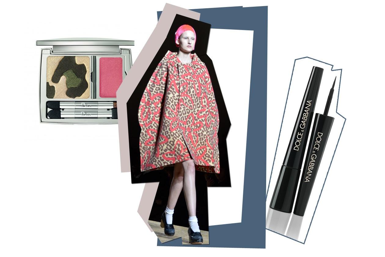 Stampe animalier per occhi e mantelle (Dior, Dolce&Gabbana)