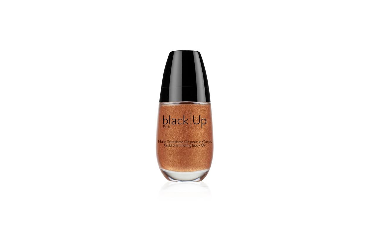 black up huile scintillante pour le corps