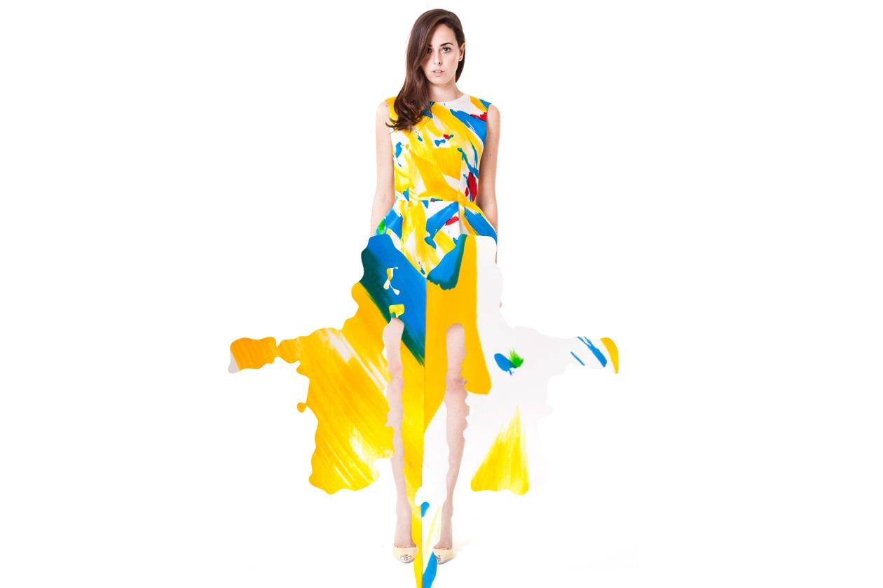 Caterina Gatta abito giallo blu