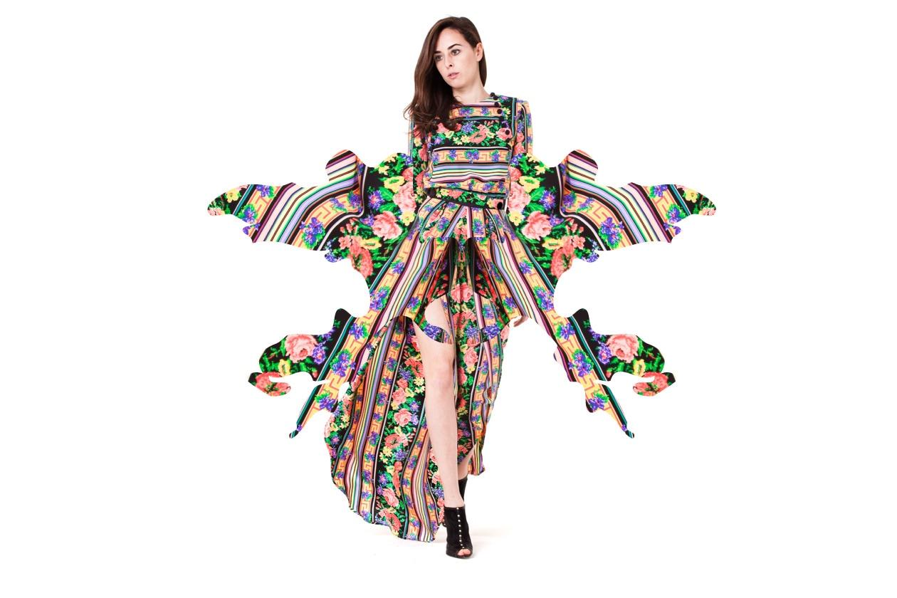 Caterina Gatta abito fiori