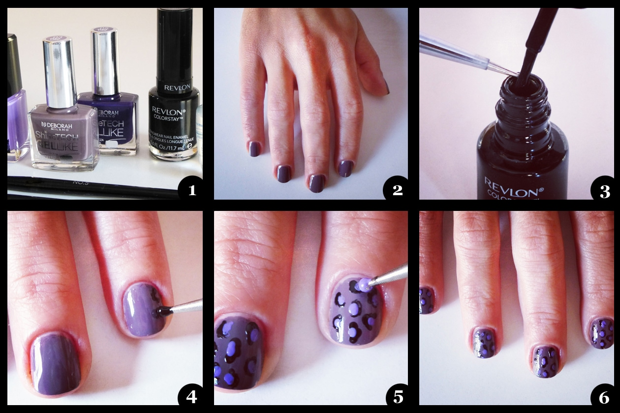 01 Beauty manicure tutorial maculato step by step