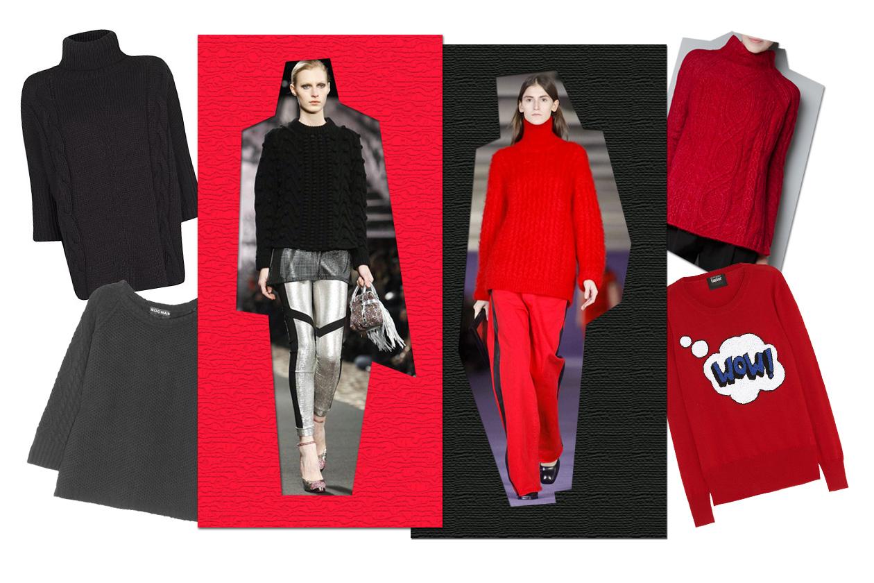 01 Rosso Nero Maglia Collage