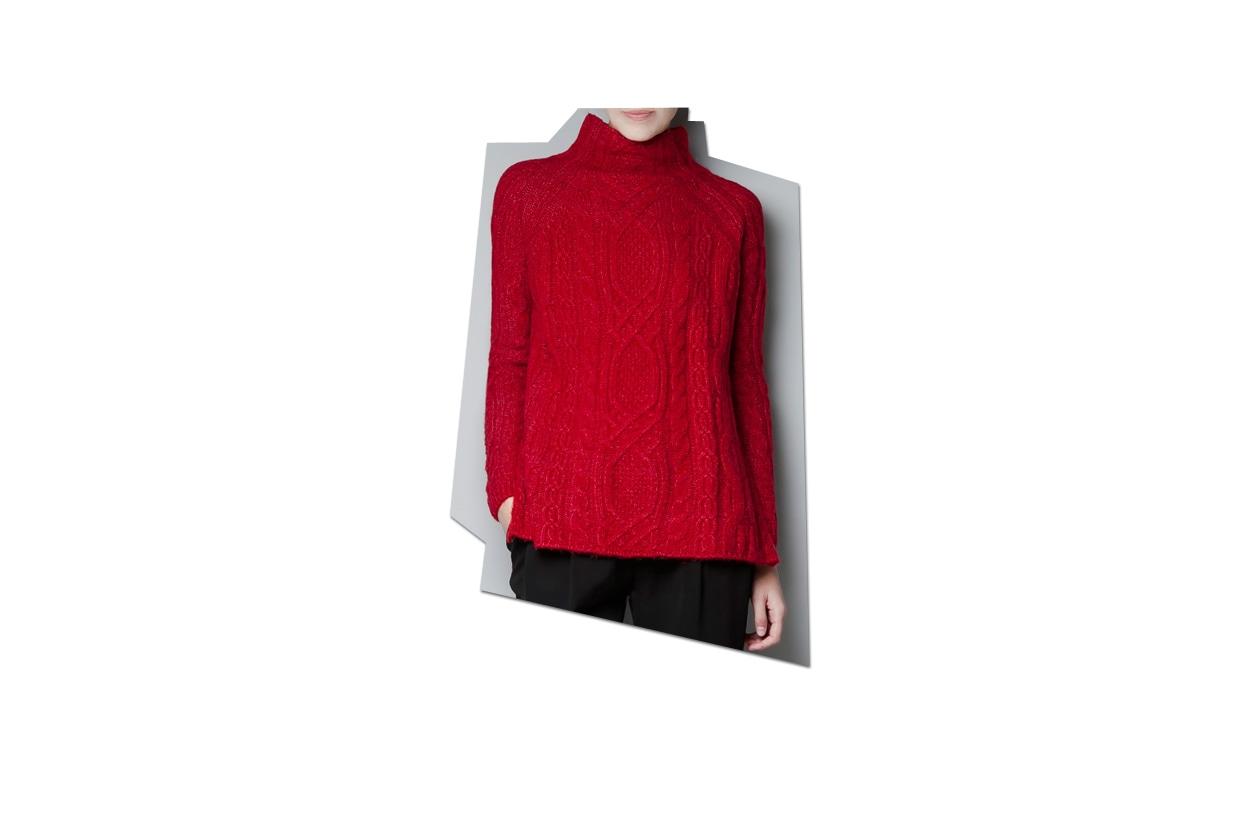 01 Rosso Nero Maglia Zara Rossa