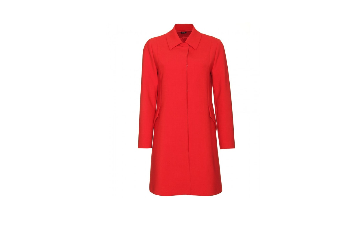 02 Rosso Nero cappotto Jil Sander Navy rosso