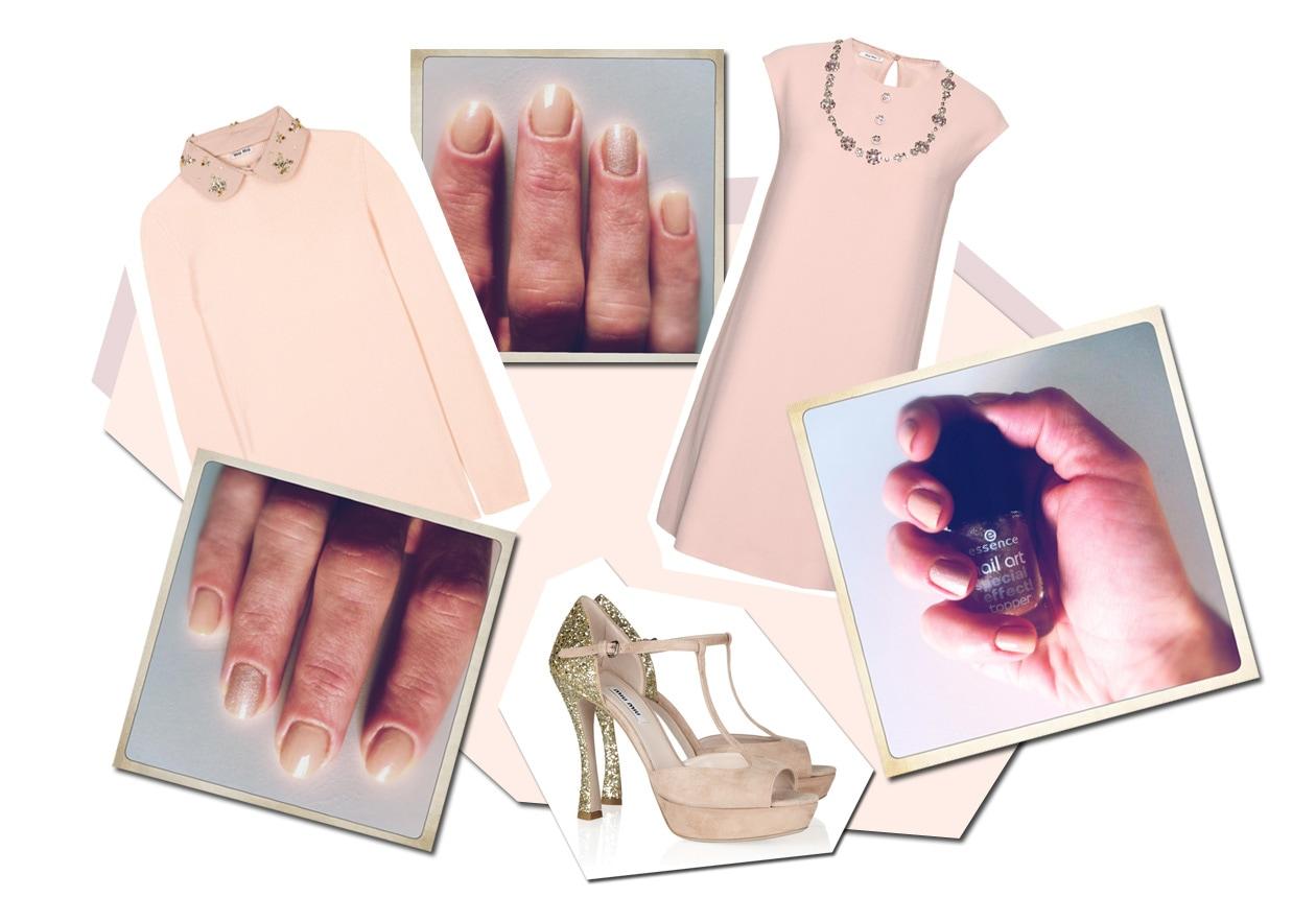 10 rosa accento glitter