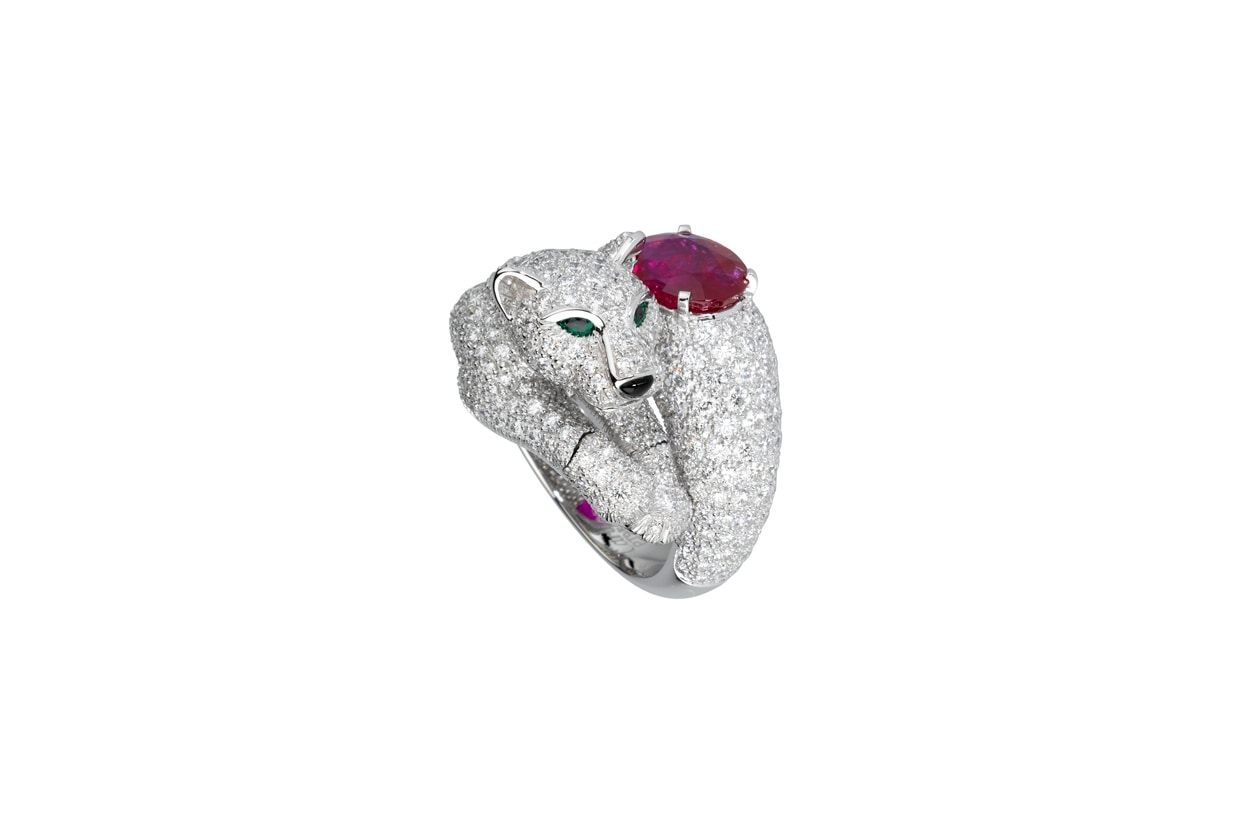 Diamond panther ring by Cartier