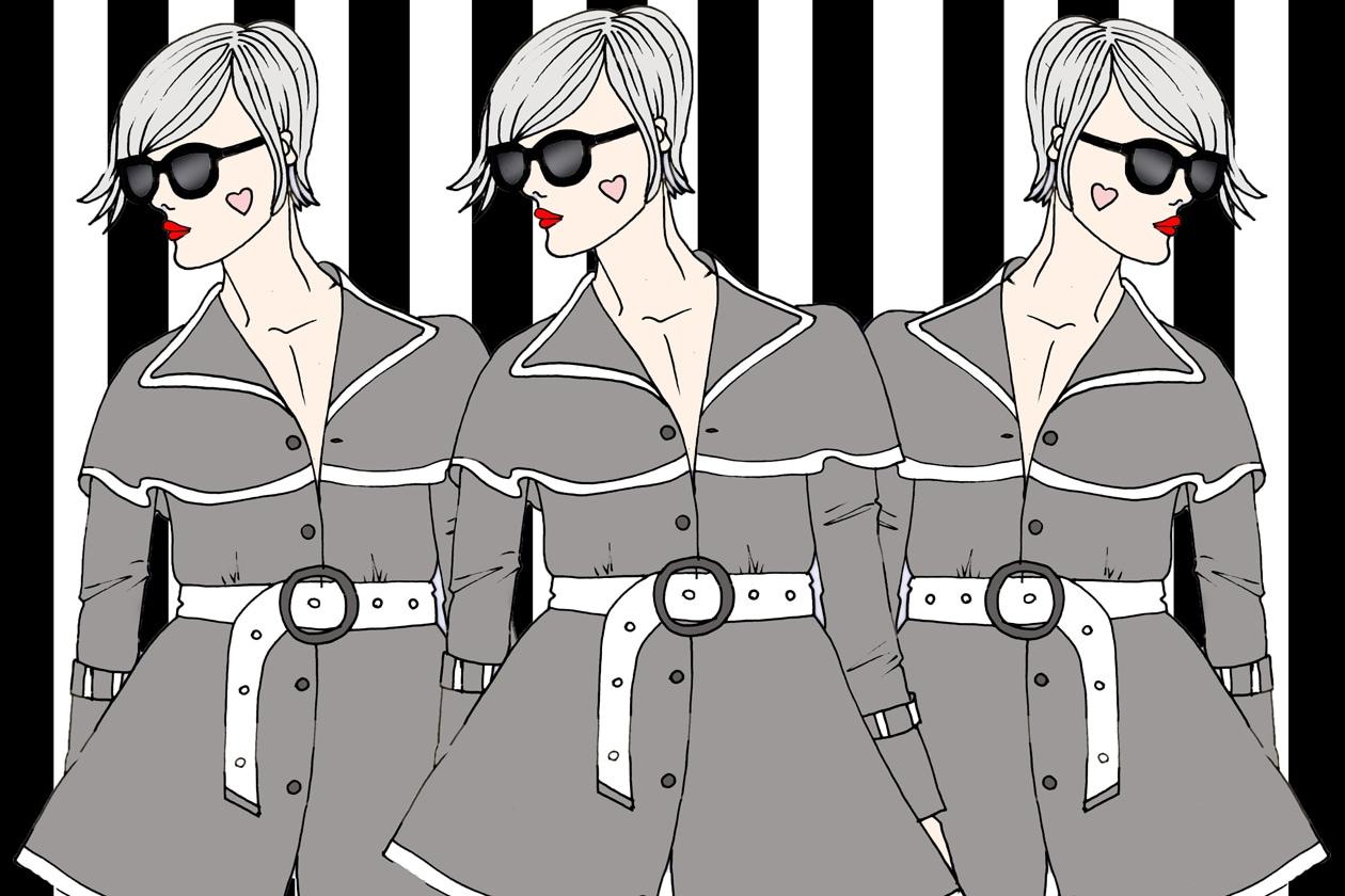 Grazia.it TRENCH illustrazione