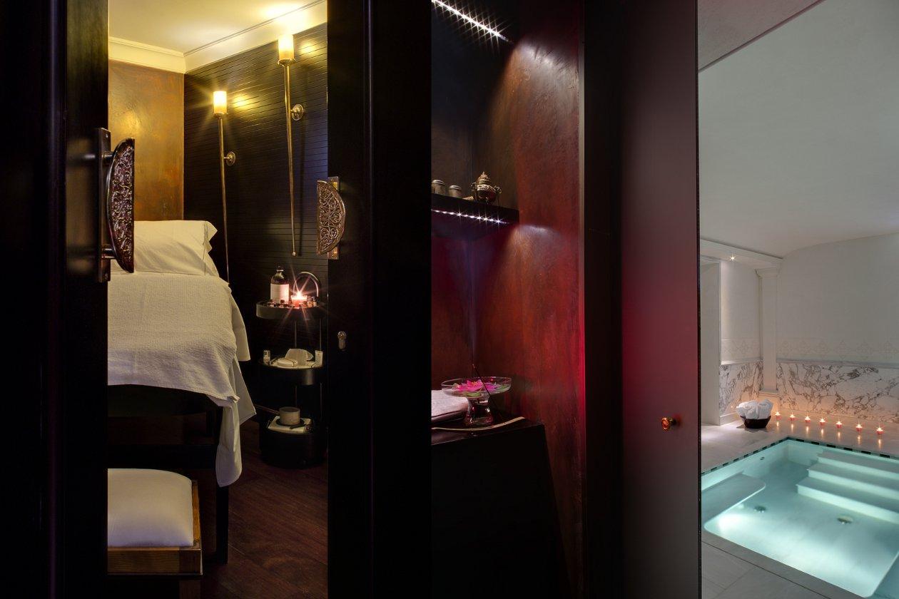 L'area massaggi della spa di Villa Cora (Fi)