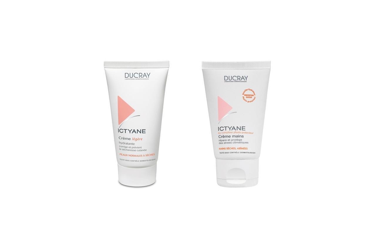 La crema mani Ictyane di Ducray contiene il complesso vaselina/glicerina