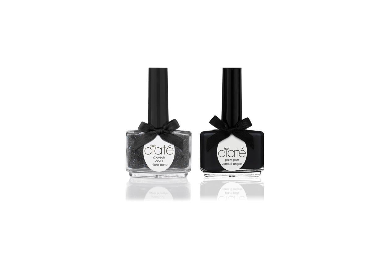 Le nuance consigliate per un evento chic? Il duo Black Pearls Caviar Manicure di Ciaté
