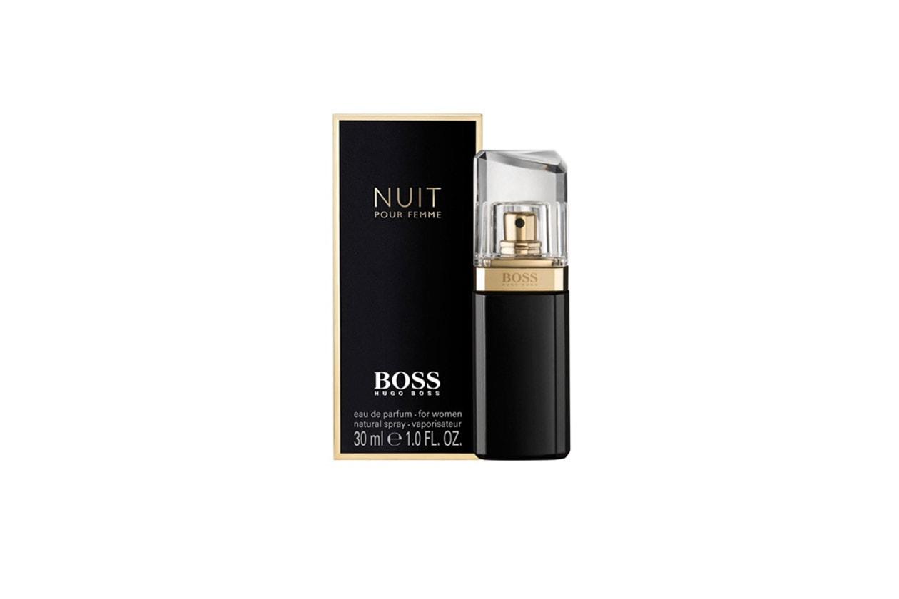 Nero come la sera, seducente come la testimonial, Gwyneth Paltrow, che Hugo Boss ha scelto per il profumo Nuit Pour