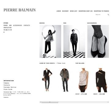 Pierre Balmain presenta la boutique on line