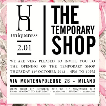 Uniqueness inaugura il primo pop up store
