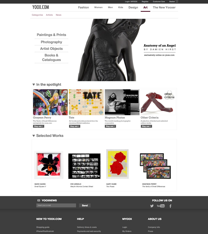 Yoox.com debutta nel mondo dell'arte