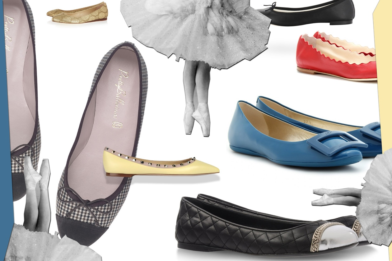 00 Flat shoes Ballerina Collage