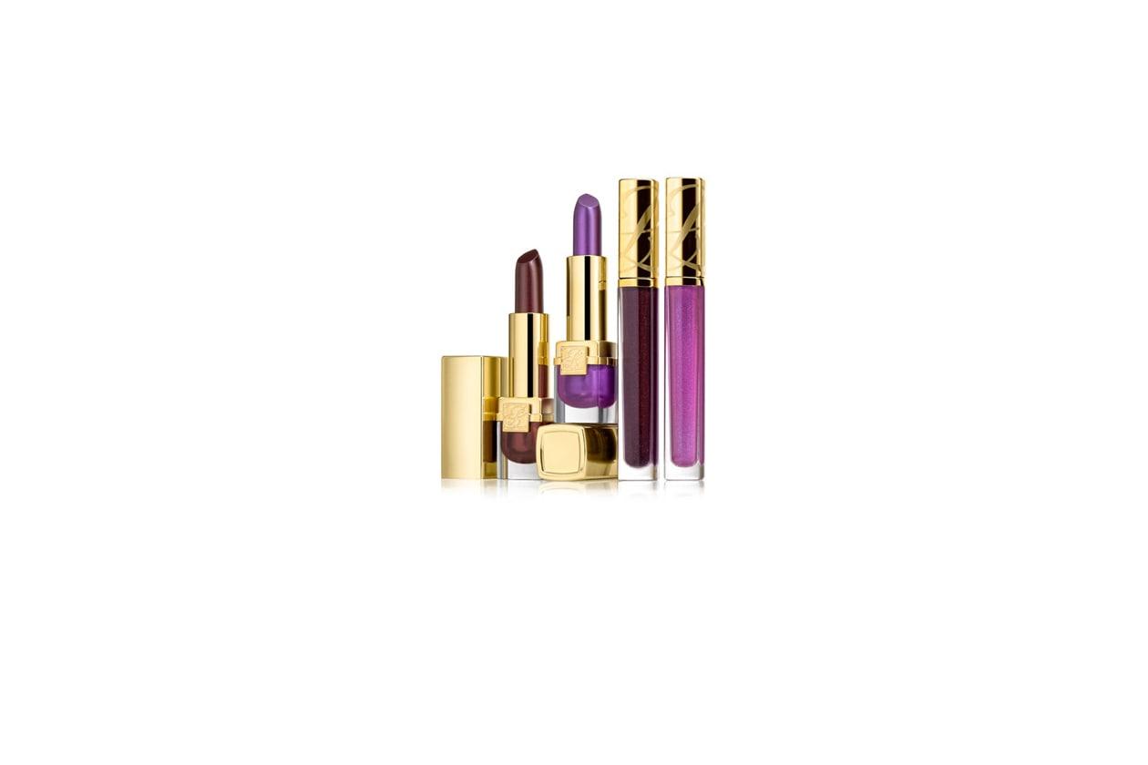 Alle labbra ci pensano i due rossetti long lasting Pure Color Rouge Velours Violet Crush e Black Cassis