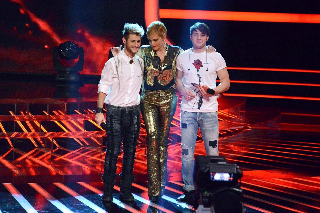 Daniele, Simona Ventura e davide X Factor 6