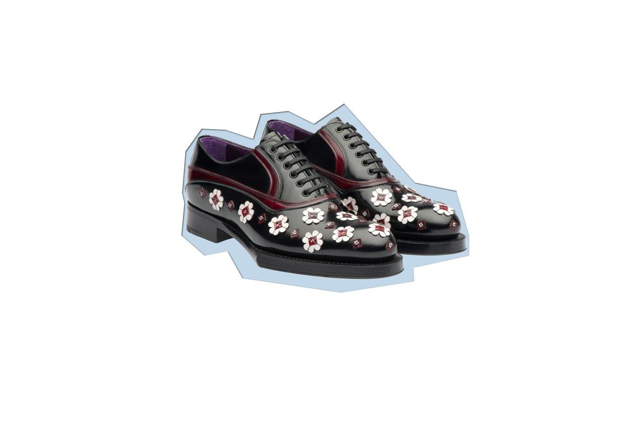 Flat Shoes Stringate prada