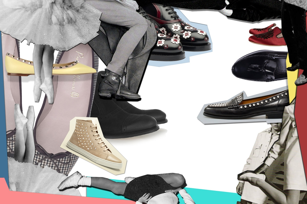 Gallery Cover Flat Shoes Collage