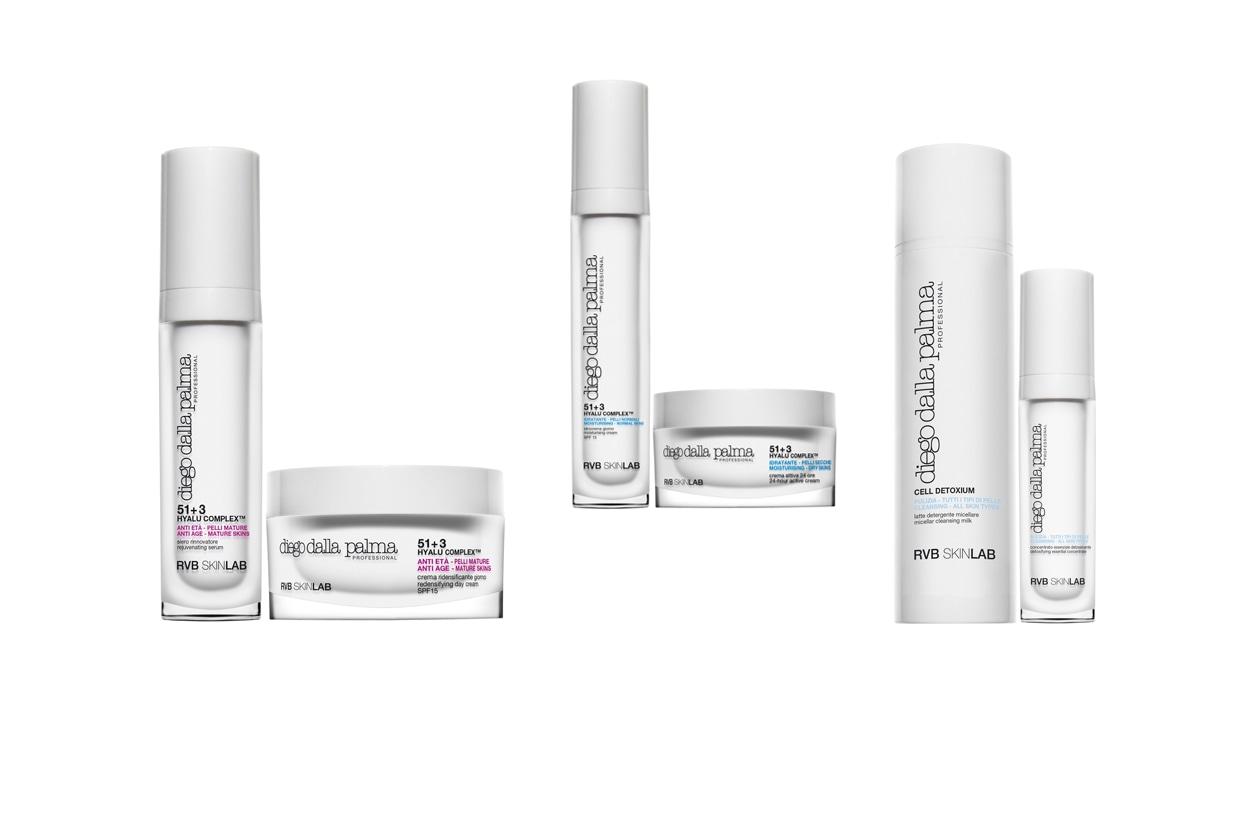 I prodotti di Diego Dalla Palma Professional contengono l'innovativo 51+3 HYALU COMPLEXTM che favorisce la formazione di collagene ed elastina