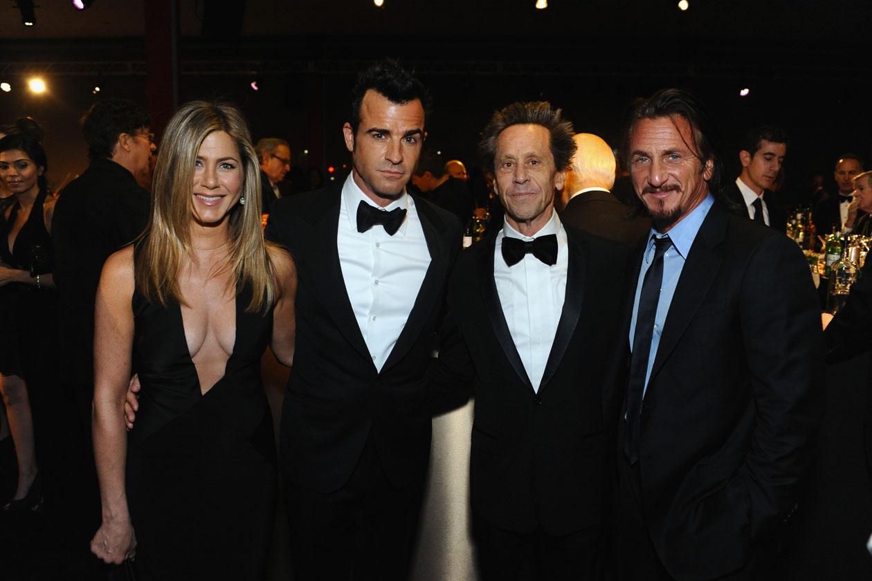 Jennifer Aniston & Justin Theroux, Brian Grazer, Sean Pen