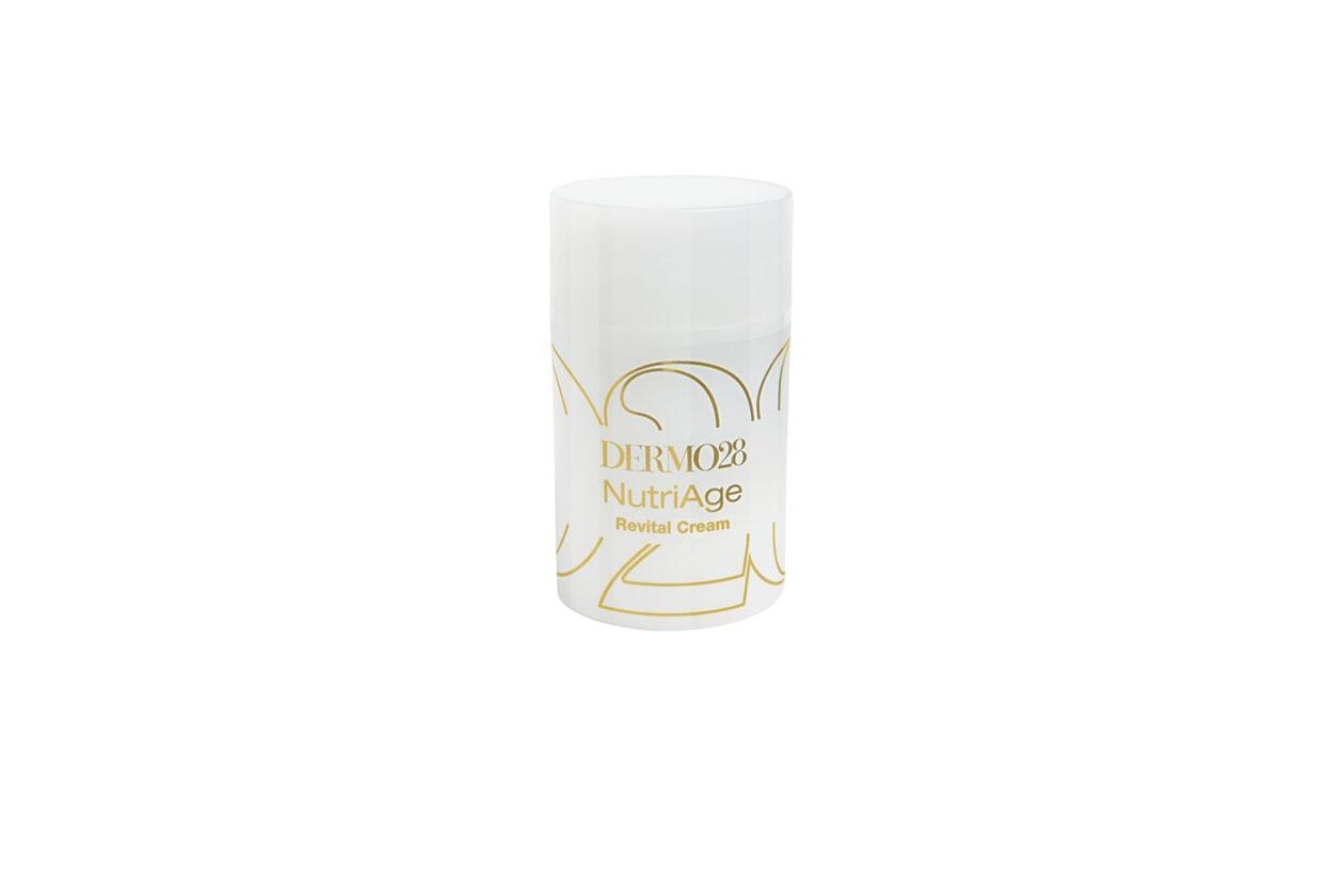 La Crema Supernutriente Antietà NutriAge Revital Cream di Dermo 28 ha estratti botanici di mandorle dolci