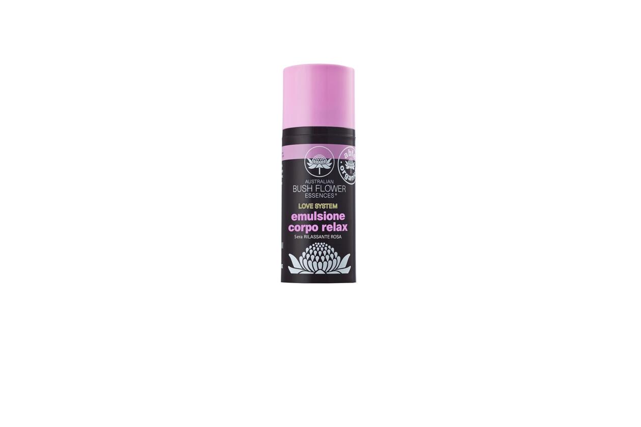 Lasciate andare le negatività con una emulsione corpo relax rilassante alla rosa della linea Love System di Green Remedies-Australian Bush Flowers