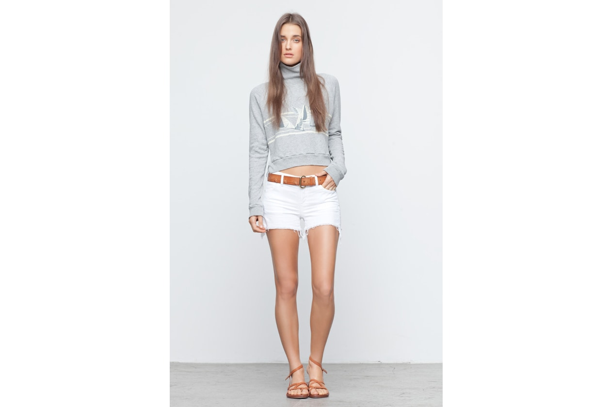 Look Book Citizens of Humanity Look Book Donna AVA CUT OFF SHORT IN STARK NO 978 298