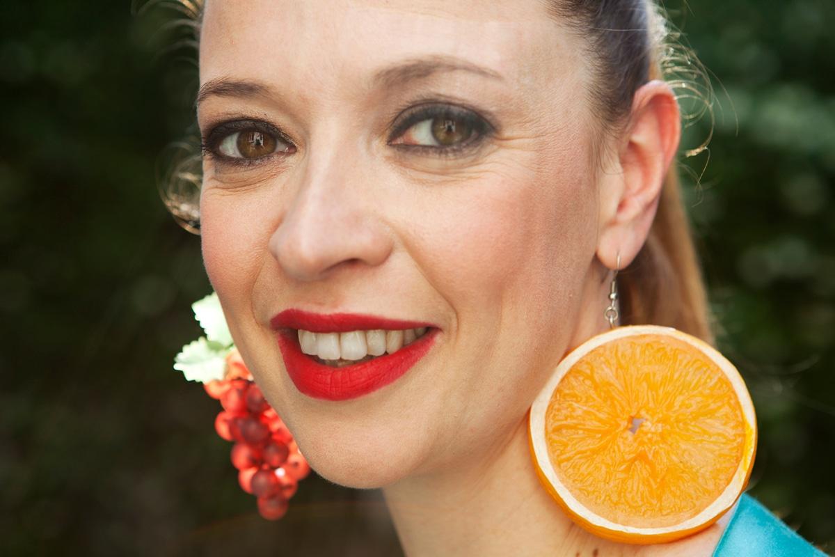 Roberta Sarchi orecchini a forma di frutta