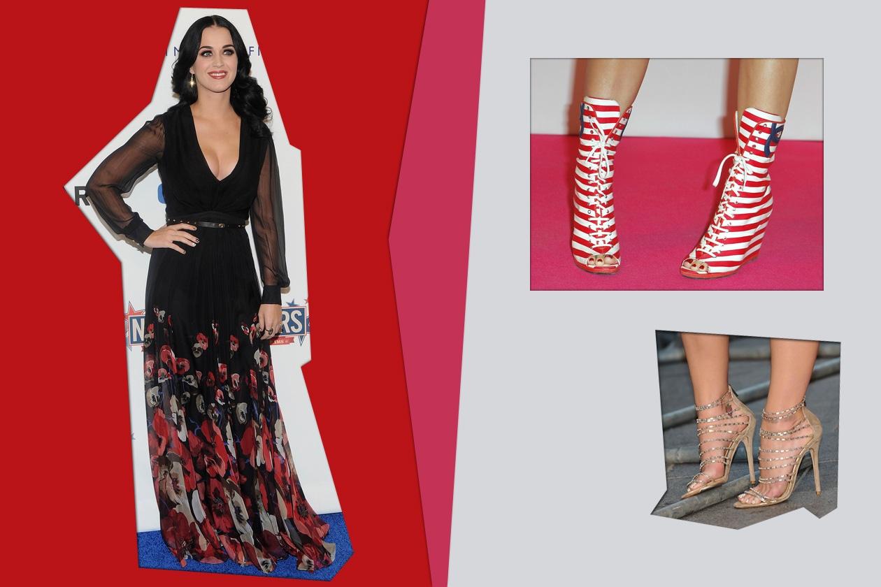 Un pedicure da dieci e lode abbinata a una scarpa che cattura l'attenzione per Katy Perry