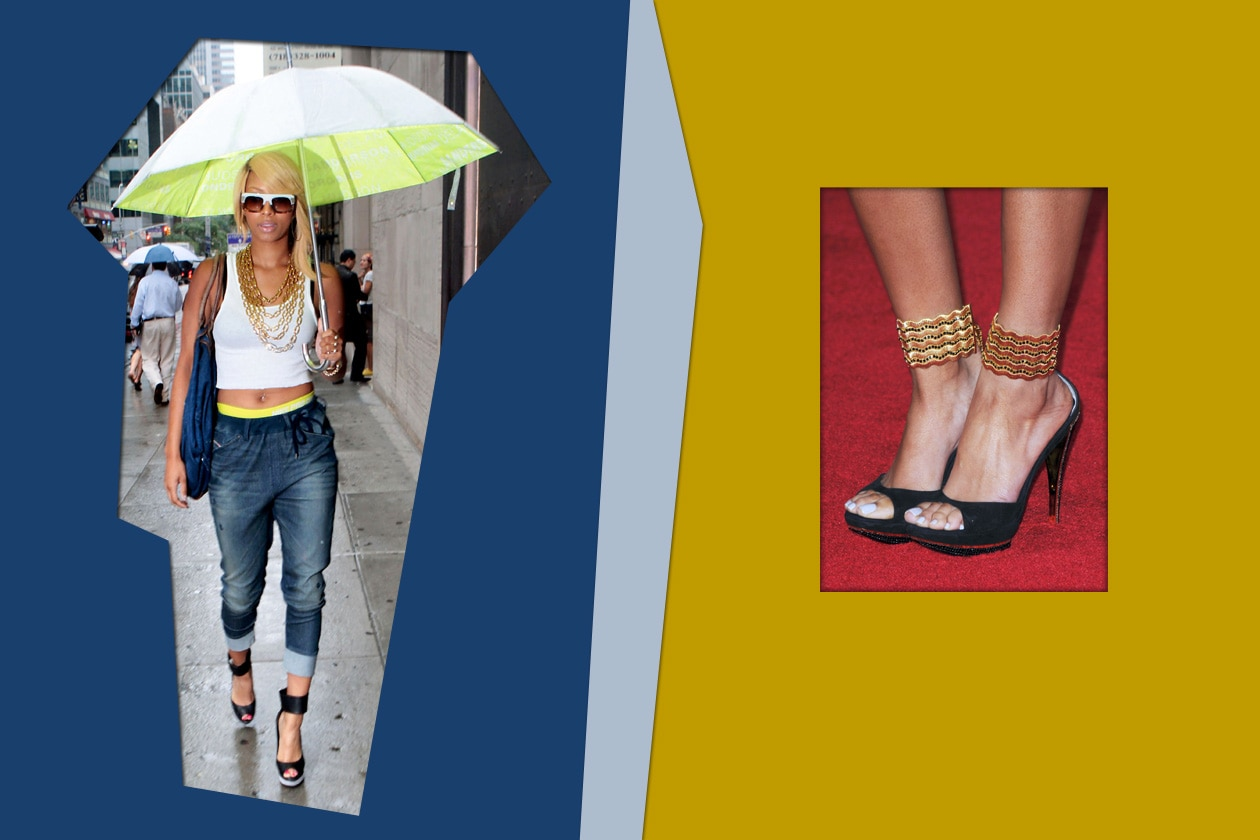 Una nuance chiara ed elegante ai piedi di Keri Hilson