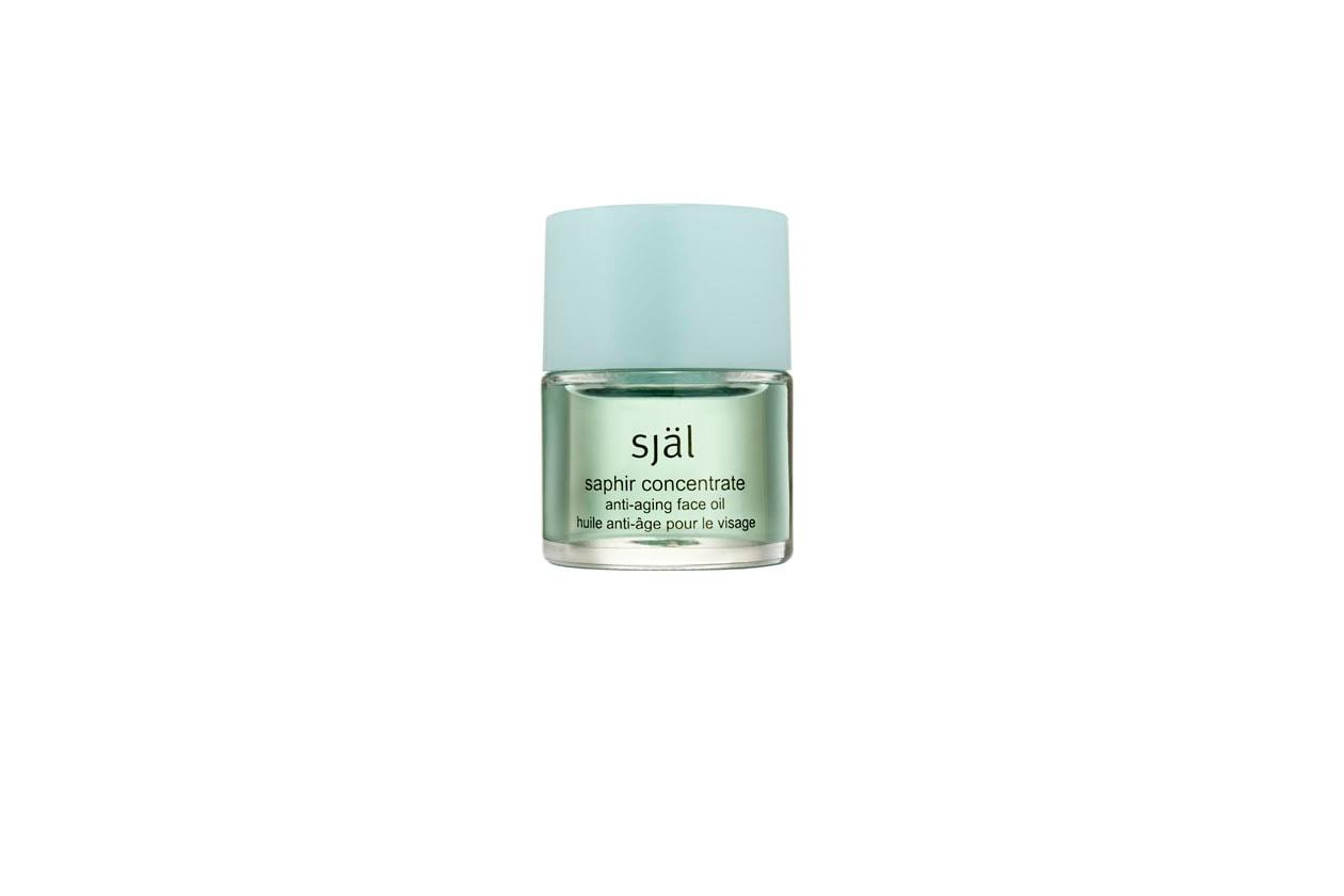 Una sferzata di energia per il viso con il Saphir concentrate anti-aging face oil di Själ