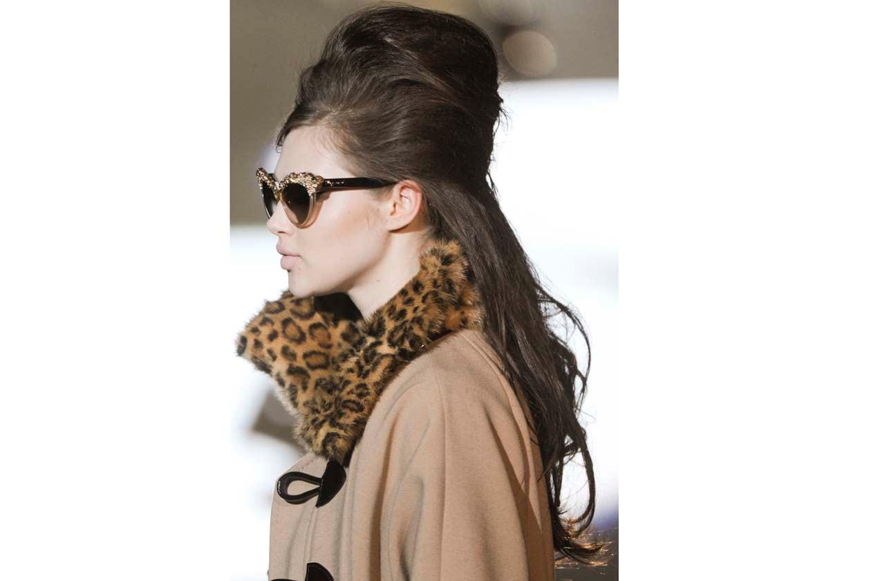 Volume hair per la modella di Dsquared2