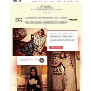 Yoox.com presenta il guardaroba di Margherita Missoni