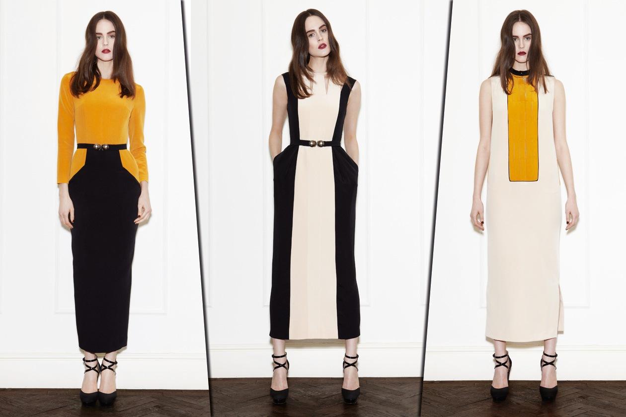 Collage abiti crema e giallo di Barbara Casasola