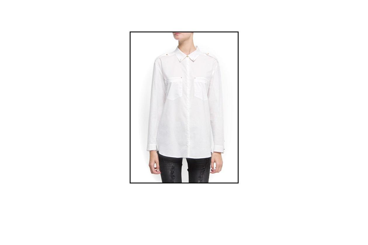 02 Capodanno Look Rock Camicia bianca Mango