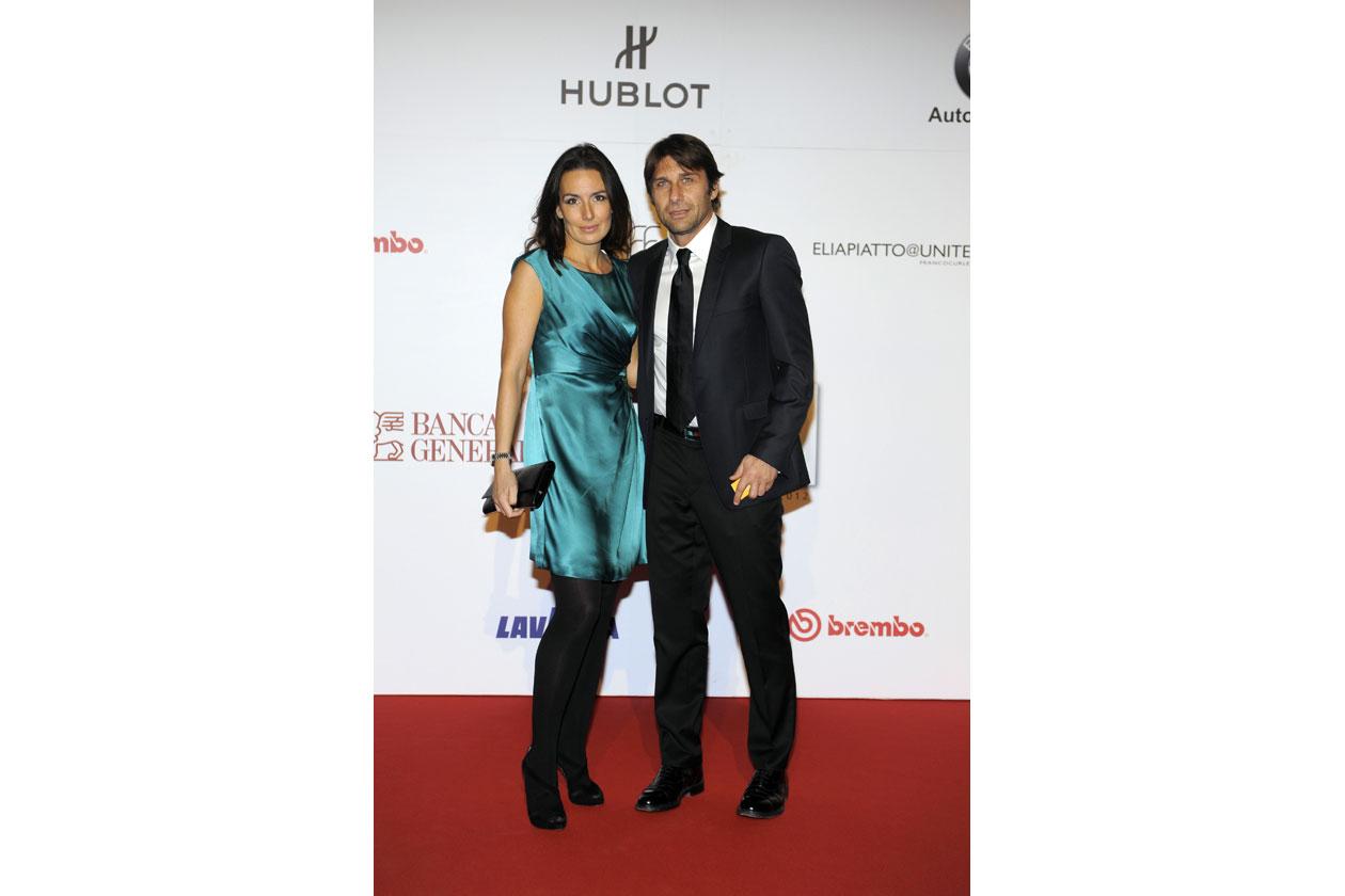 Antonio Conte e moglie
