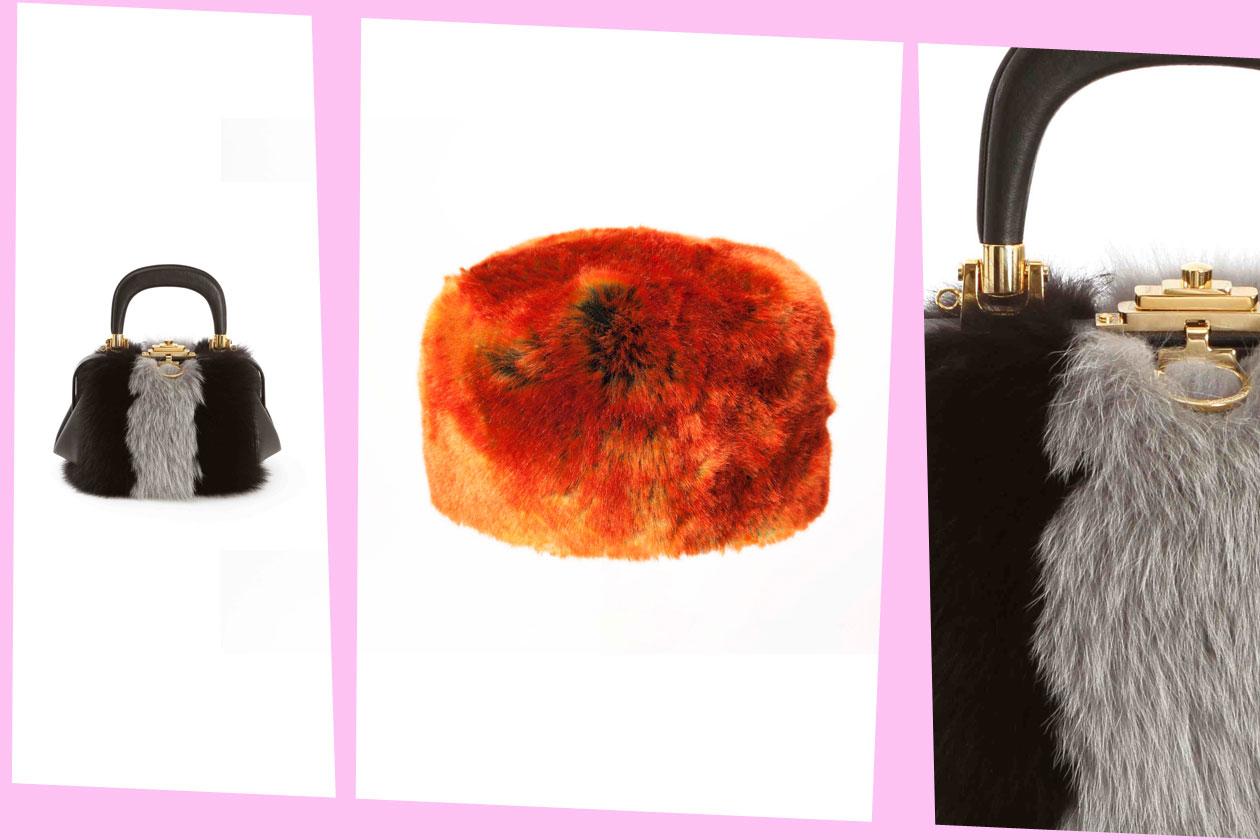 Fur Details ROBERTA DA CAMERINO Bagonghi Pelle Volpe Bajadera Tappo