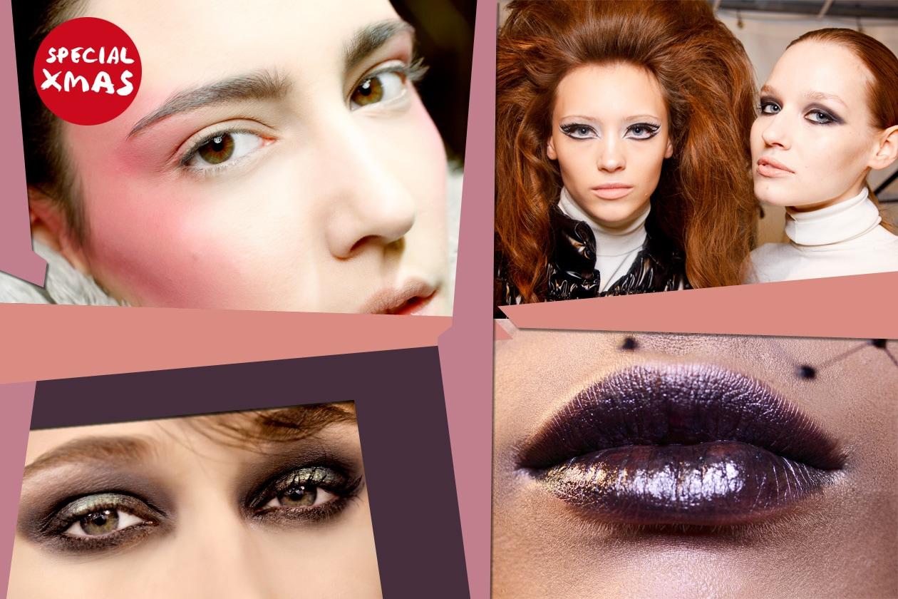 Make Up per le feste Collage